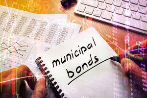 Municipal Bonds Written in a Note. Trading Concept.