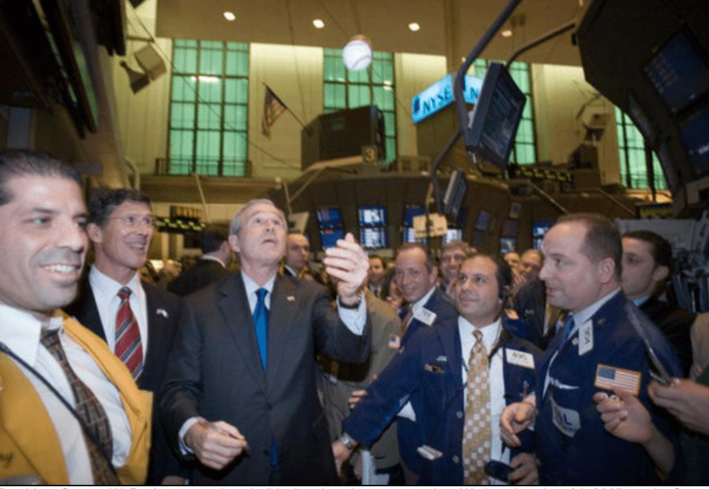 President George W. Bush visits NYSE